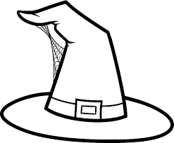 Hat Build With Spider Web Colouring Page