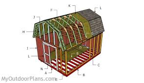 free 12x16 gambrel shed material list 12x16 gambrel shed roof plans myoutdoorplans free woodworking
