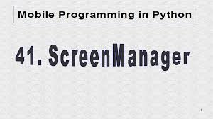 Python Decorators In Classes by Mobile Programming In Python 41 Screenmanager
