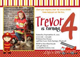 Birthday Invitation. Firefighter Birthday Invitations - Invitation ...