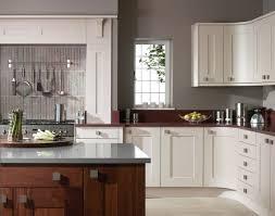 astounding l shape white and grey kitchen decoration using light
