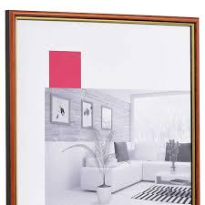 holz bilderrahmen antony 13x18 cm rot gold normalglas