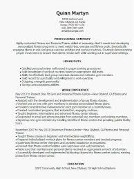 Personal Trainer Resume Examples Fresh Fitness Instructor Format For Trainers New