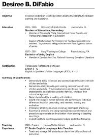 Sample Educator Resume Teaching Teacher Assistant Objective