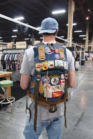 Patched Levis Birkenstock Sandals A Vintage Backpack Hippie Styles At The Trade Show Leftover From Summertime