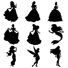 Princess Ariel Pumpkin Stencils by Disney Princess Silhouettes Snow White Belle Tiana Cinderella