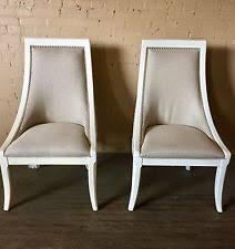 Thomasville Furniture Manuscript White Upholstered Back Dining Chair Set Of 6