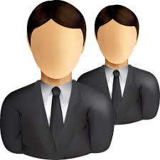 Business Users Icon Shine Set Managers Leaders Suits