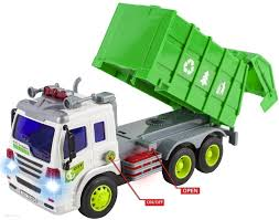 WolVol Friction Powered Garbage Truck Toy With Lights And Sounds For ...