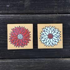 3x3 Blue Ceramic Tile by Color Crazy Dahlia Ceramic Tiles 3