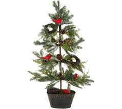 36 Slim Cardinal Tree With Nests And Pinecones By Valerie