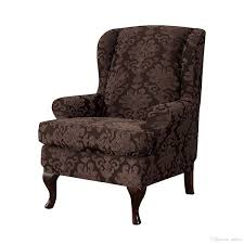 Subrtex Elegant Jacquard Wing Chair Slipcovers Wing Back Wingback Chair  Cover Covers Wing Chair, Chocolate Dining Room Chair Seat Cover Large Chair  ... Lisle White Slipcover Wingback Host Chair Black Blue Ding Covers Round Back Room Chun Yi 2piece Stretch Jacquard Spandex Fabric Wing Armchair Slipcovers Tcushion For Walmart Fireside Floral Winsome Big Man Recliner Brown Power Boy Gray Wingbacks With Damask By Shelley Cube Target Pottery Bar Slipcovered Pattern Sewi Capri Captain Cdi Fniture