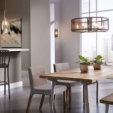 Dining Room White Wooden Table Modern Brushed Nickel Glass Chandelier Black Metal