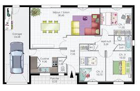 plan maison plain pied moderne architecture