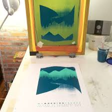 Here Is A Process Photo Of Our Most Recent Poster For My Morning Jacket From Studio Press Final Color Going Down We Hand Silkscreen Print All