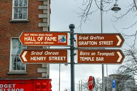 100 Dublin Street Sign With Names In Both English And Irish