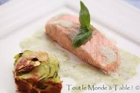 comment cuisiner du saumon surgelé saumon vapeur écume de basilic tout le monde à table