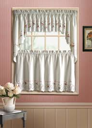 Window Art Tier Curtains And Valances by Rachel Embroidered Cutwork Tier Curtain Curtain U0026 Bath Outlet