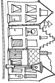Dutch City Houses Coloring Page