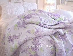 Simply Shabby Chic Bedding by Lavender Lilac Full Queen Quilt Shabby Chic Romantic Home Cottage