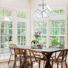 Breakfast Room With Vaulted Ceiling And Skylights
