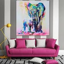 multicolor elefant muster leinwand malerei rahmenlose bilder wohnzimmer dekor