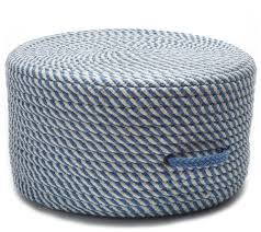 Bright Twist Pouf - Blue Ice And White 20