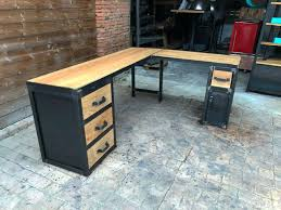 bureau industriel metal bois table bois metal industriel best bureau dangle industriel sur