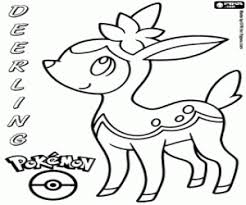 Deerling Pokemon Coloring Page Printable Game