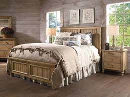 Brown Polka Dot Curtain Rustic Country Bedroom Decorating Ideas Framed Bed White Painted Nightstand Bedding