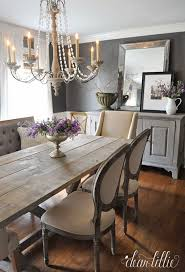 Rustic Dining Room Decorations by Elegant Dining Room With Both Traditional And Rustic Elements