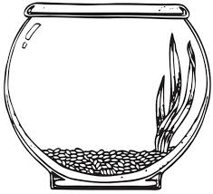 Stunning Fish Bowl Coloring Page Printable Pictures Throughout