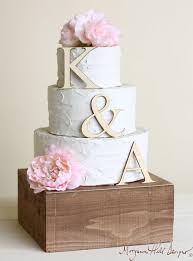 Wooden Initial Rustic Initialwedding Cake Topper 3d Little Country Weddings Personalized By RabarBerry On Et