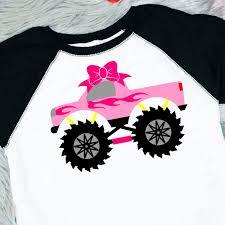 100 Monster Truck Shirts SVG File ShirtSvg Girls