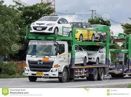 100 Truck Carrier New Bird Logistic Trailer For Car Transport Editorial