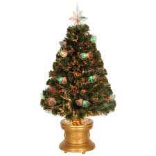 National Tree Company 3 Ft Fiber Optic Double Bell Artificial Christmas