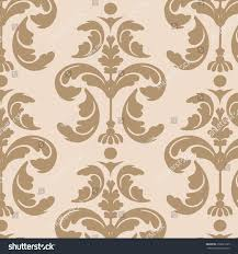Seamless Floral Vector Background Light Brown Stock Vector