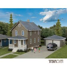 100 Picture Of Two Story House HO Scale WGarage Kit