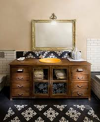 Shabby Chic White Bathroom Vanity by Chicago Antique Bathroom Vanities Craftsman With Wall Mounted