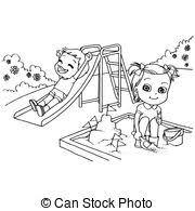 Vector Clip Art Of Cute Boy Cartoon Coloring Page