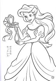 Disney Princess Baby Ariel Coloring Pages To Print Awesome Pictures