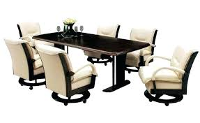 Rolling Dining Chairs Dining Room Chairs With Arms And Casters