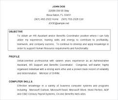 Resume Template Objective Templates Sample