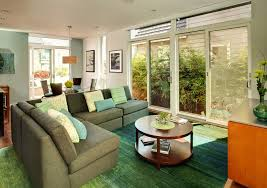turquoise rug trend los angeles contemporary living room image