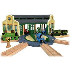 tidmouth sheds with turntable thomas friends wooden railway