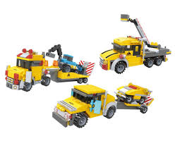 Amazon.com: BRICK-LAND Vehicle Transporter Building Bricks ...