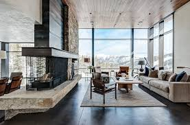 View In Gallery Mountain Retreats Offer The Perfect Backdrop For A Rustic Style Space Design Pearson