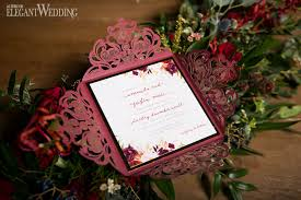 Red Lasercut Wedding Invitations