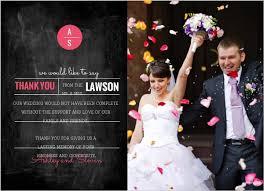 Modern Rustic Chalkboard Wedding Thank You Card By WeddingPaperie