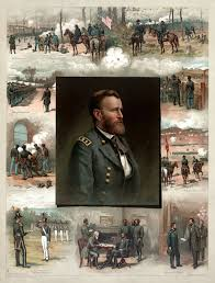 Grants Portrait Is In The Middle Of A Picture Surrounded By His Chronological Military History Starting